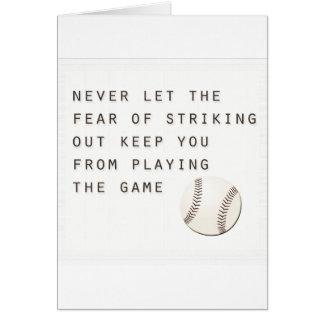 fear of striking out inspirational modern baseball card