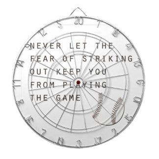 fear of striking out inspirational modern baseball dartboard