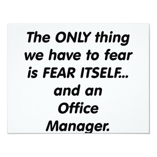 fear office manager card