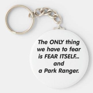 Fear Park Ranger Basic Round Button Keychain
