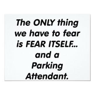 fear parking attendant card