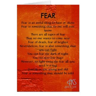 Fear Poem Greeting Card