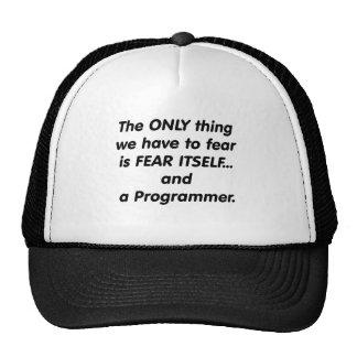 fear programmer trucker hat