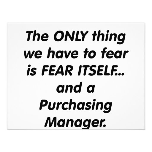 fear purchasing manager personalized invite