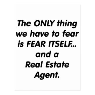 Fear Real Estate Agent Postcard