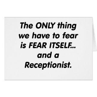 fear receptionist greeting card