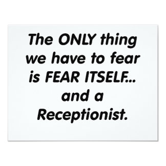 fear receptionist card