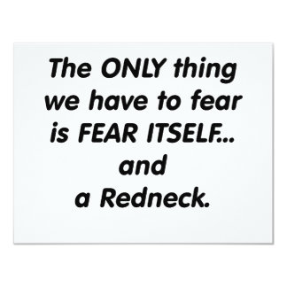 fear redneck card