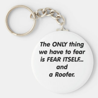 fear roofer keychain