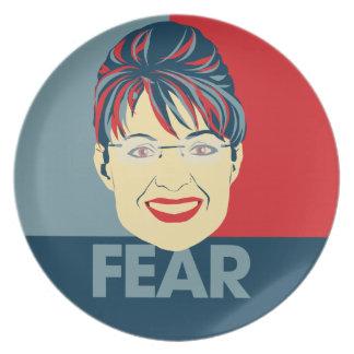 Fear Sarah Palin Dinner Plate