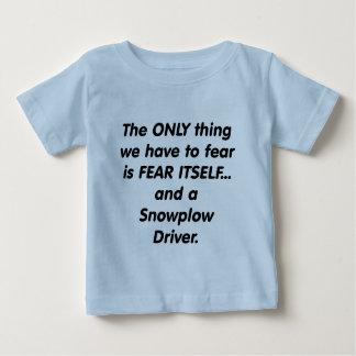 fear snowplow driver tee shirt
