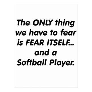 Fear Softball Player Postcard