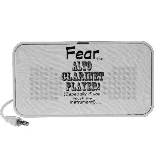 Fear the Alto Clarinet Player Notebook Speaker