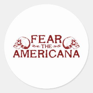 Fear the Americana Classic Round Sticker