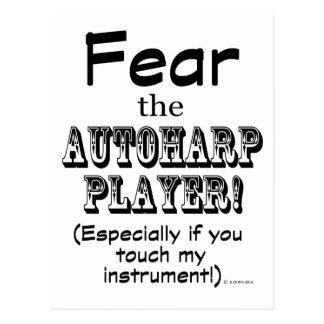 Fear The Autoharp Player Postcard