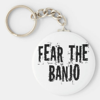 Fear The Banjo Basic Round Button Keychain