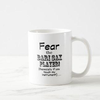 Fear The Bari Sax Player Classic White Coffee Mug