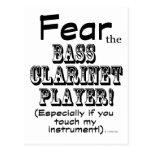 Fear The Bass Clarinet Player Postcard
