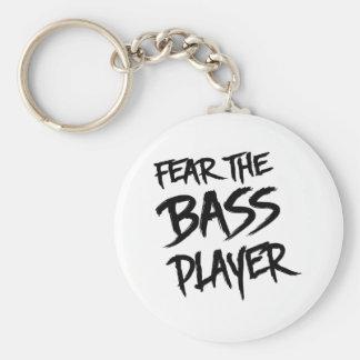 Fear the Bass Player Keychain