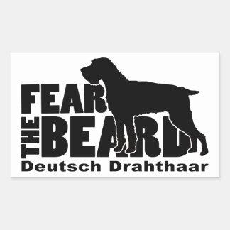 Fear the Beard - Deutsch Drahthaar Gear Rectangular Sticker