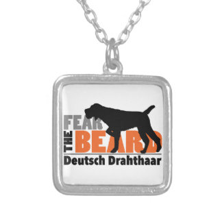 Fear the Beard - Deutsch Drahthaar Silver Plated Necklace
