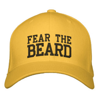 FEAR THE BEARD EMBROIDERED BASEBALL CAPS