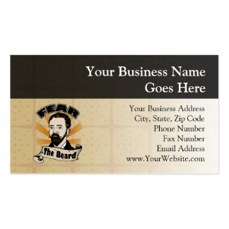 Fear the Beard Funny Mustache Business Card Template