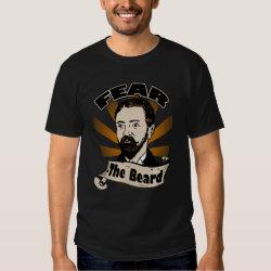 Fear the Beard, Funny Mustache T Shirt