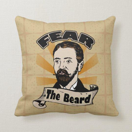 Fear the Beard, Funny Mustache Throw Pillow