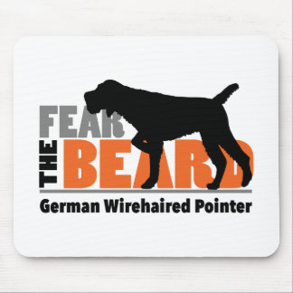 Fear the Beard - German Wirehaired Pointer Mouse Pad