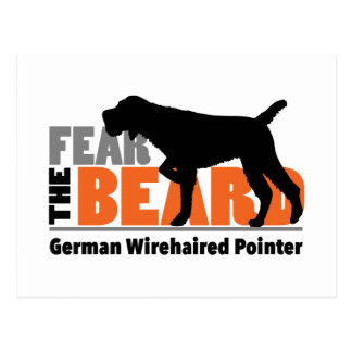 Fear the Beard - German Wirehaired Pointer Postcard