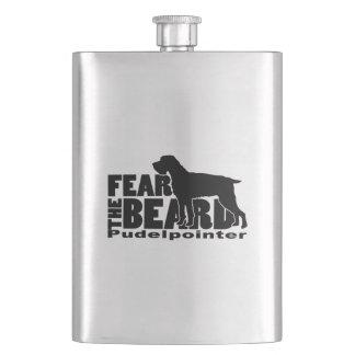 Fear the Beard - Pudelpointer Gear Hip Flask