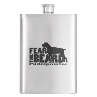 Fear the Beard - Pudelpointer Gear Hip Flask