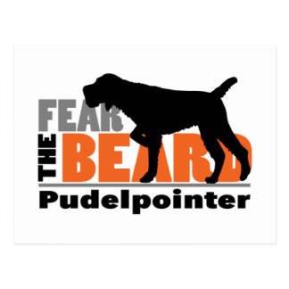 Fear the Beard - Pudelpointer Postcard