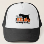 "Fear the Beard - Pudelpointer Trucker Hat<br><div class=""desc"">This design reads,  &quot;fear the beard&quot; and features one of our favorite bearded buddies the Pudelpointer.  It&#39;s available on mugs,  cups,  t-shirts,  hats,  stickers and more.  We also have Pudelpointers,  Wirehaired Pointing Griffons &amp; German Wirehaired Pointers available! Click &quot;customize&quot; to choose your own color and size!</div>"