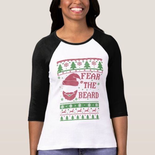 Fear The Beard Ugly Christmas T-Shirt After Christmas Sales 5256