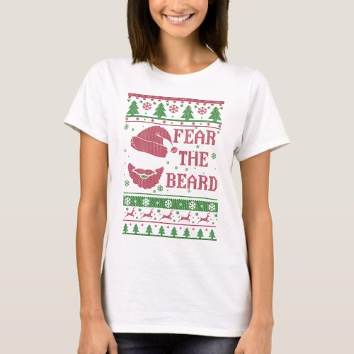 Fear The Beard Ugly Christmas T-Shirt After Christmas Sales 5618