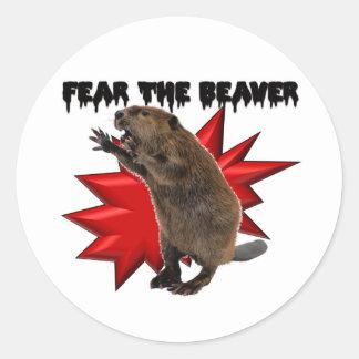 Fear the Beaver Classic Round Sticker