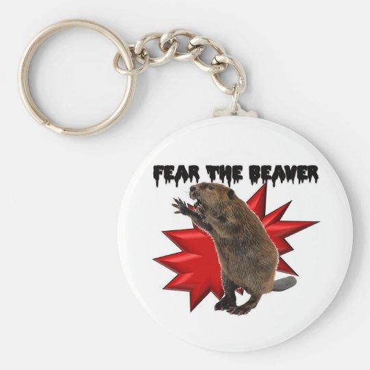 Fear the Beaver Keychain