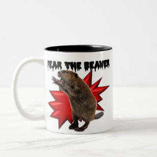 Fear the Beaver Two-Tone Coffee Mug
