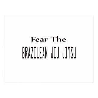 Fear the Brazilian Jiu Jitsu. Postcards