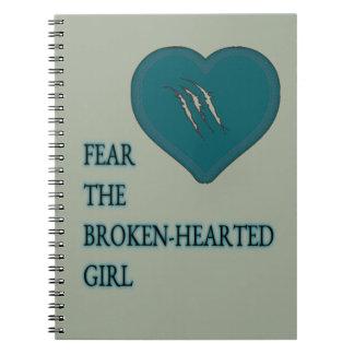 Fear the broken hearted spiral notebook