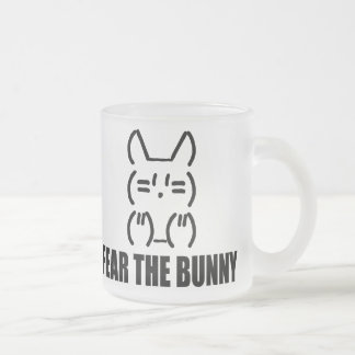 FEAR THE BUNNY - Frosted Frosted Glass Coffee Mug