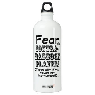 Fear The Contrabassoon Player Water Bottle