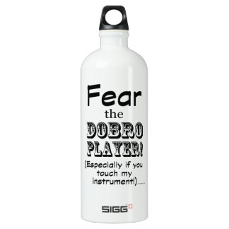 Fear The Dobro Player Aluminum Water Bottle