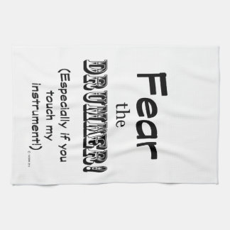 Fear The Drummer Kitchen Towels