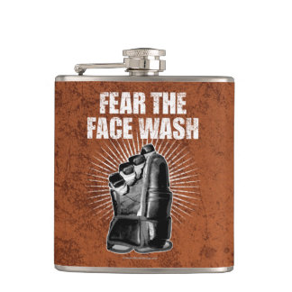 Fear The Face Wash (Hockey) Flask