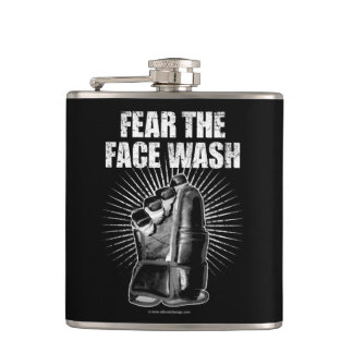 Fear The Face Wash (Hockey) Hip Flask