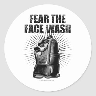 Fear The Face Wash Classic Round Sticker