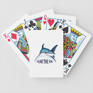 FEAR THE FIN BICYCLE PLAYING CARDS